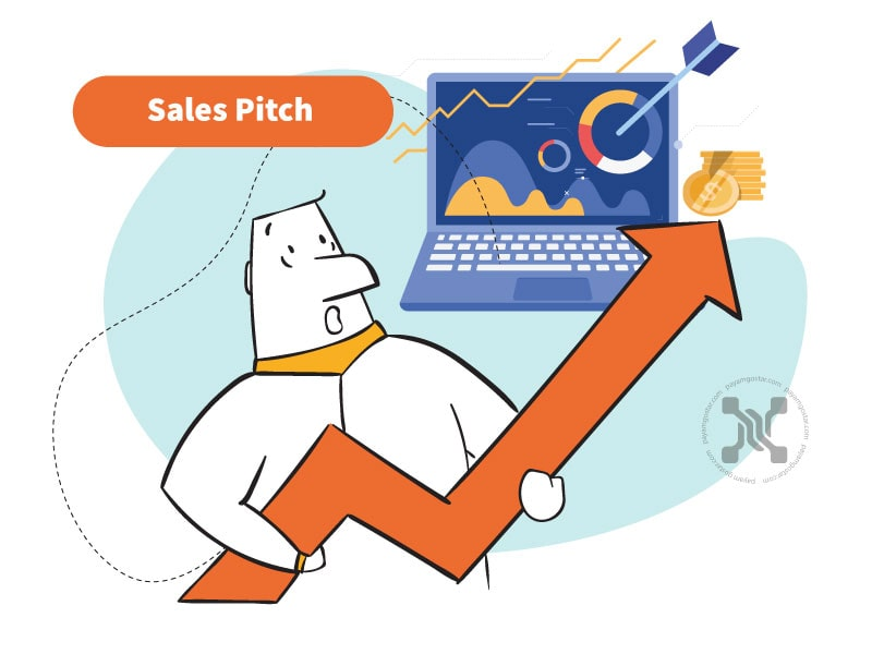 ارائه فروش (Sales Pitch) سعی در متقاعد کردن شخصی برای خرید یک محصول دارد