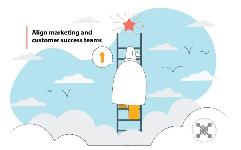 همسوسازی تیمهای بازاریابی و موفقیت مشتریان باعث یهبود تجربه مشتری میشود.
