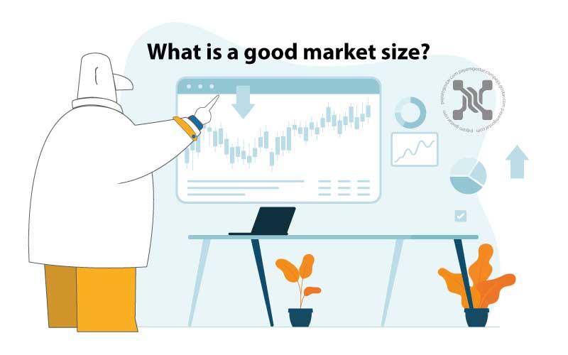 اندازه بازار به کل فروش یا مشتریان در یک صنعت معین در یک دوره زمانی معین، اغلب یک سال اشاره دارد