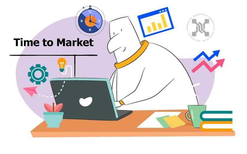 زمان به بازار (TTM) مدت زمان لازم برای به ثمر رساندن محصول است.
