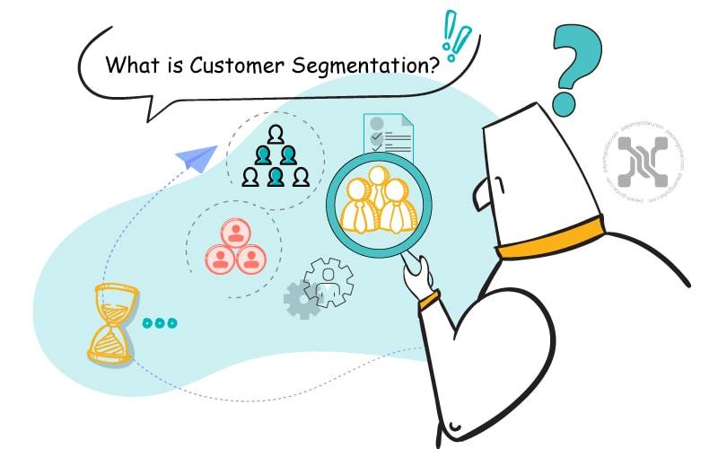 تقسیم بندی مشتریان فرآیند تفکیک مشتریان شما به گروهها بر اساس ویژگیهای خاص به عنوان مثال شخصیت، علایق و عادات است.